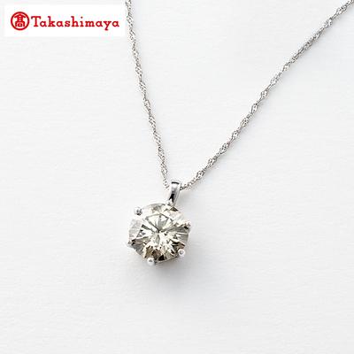 高島屋プラチナ1ctダイヤ一粒石ペンダント